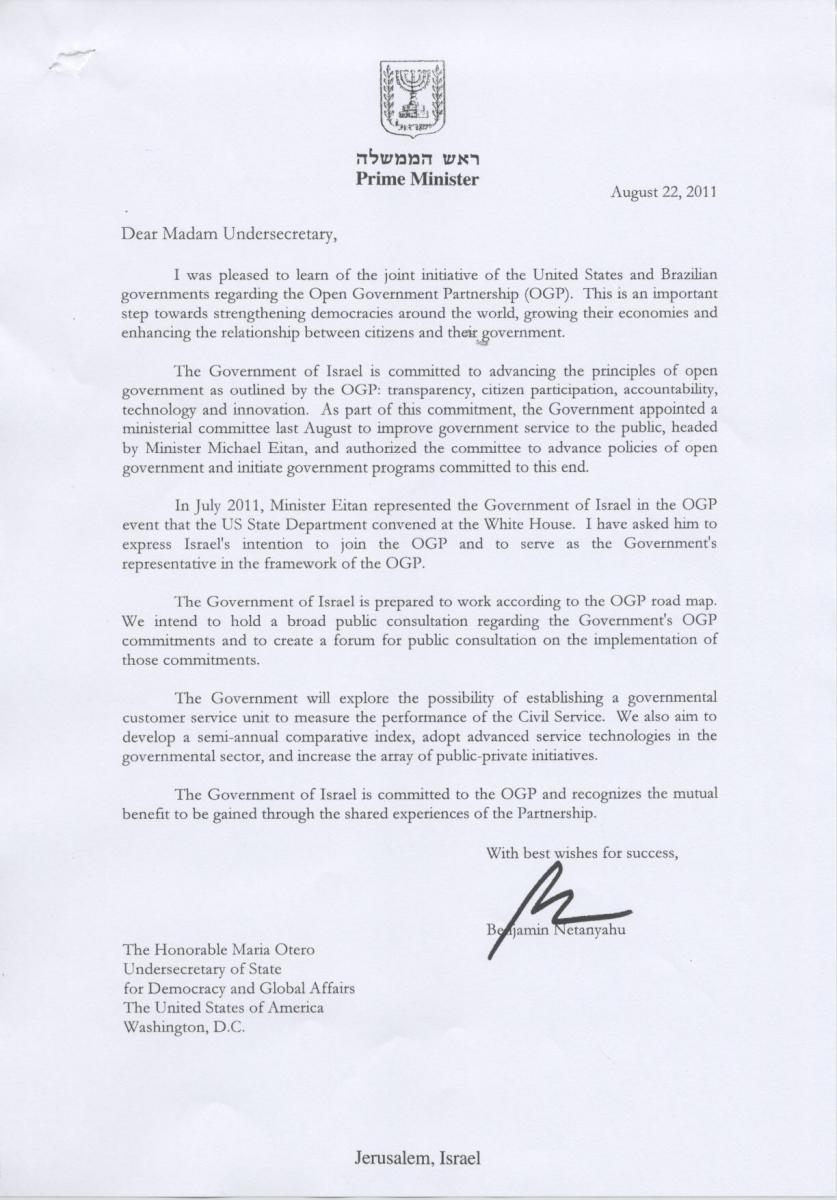Letter of Intent       Free Word  PDF Documents Download   Free     Open Government Partnership