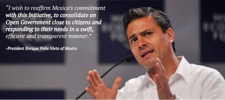 President Enrique Peña Nieto of Mexico is a co-chair of OGP