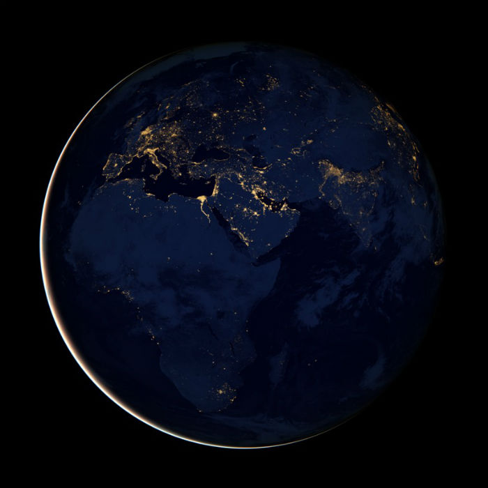 NASA Earth Observatory - Lights off in Africa