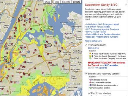 Sandy Crisis Map