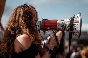 Mégaphone de protestation