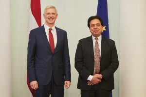 Latvian PM and Sanjay