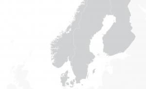 Mapa de países nórdicos