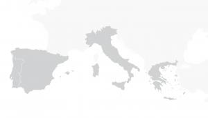 carte régionale de l'europe du sud