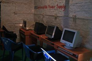 Computer room at Shreeshitalacom Lower Secondary School. Kaski, Nepal