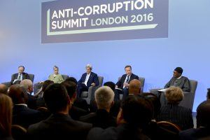 David Cameron opens the Anti-Corruption Summit first Plenary session at Lancaster House