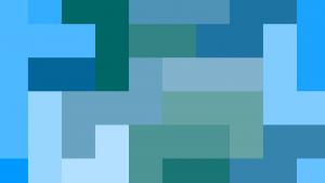 Bannière géométrique bleu + vert foncé